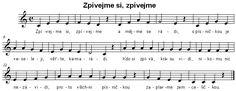 Zpívejme si, zpívejme Sheet Music, Music Sheets