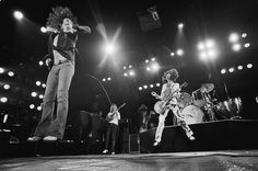 Led Zeppelin: The band performing in the mid 1970s