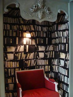 Idea: install an overhead moulding to create a reading nook.