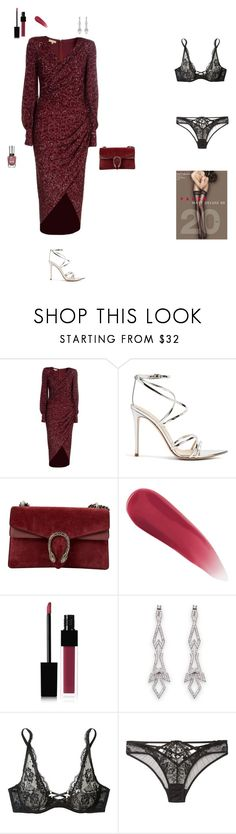 """""""Rendezvous / Date"""" by irinagelwer on Polyvore featuring Mode, Michael Kors, Gianvito Rossi, Gucci, Edward Bess, Agent Provocateur und Sally Hansen"""