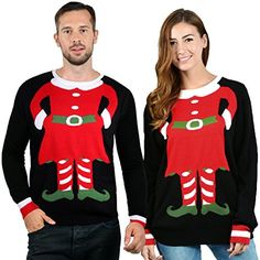 13a1533d13 Uideazone Unisex Ugly Christmas Sweaters Long Sleeve Round Neck Knitted  Sweater Pullover Fabric  AcrylicCoolest
