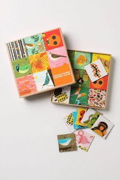 Charley Harper Memory Game- I just purchased this- great fun for children and adults. Creative and brain stimulating.