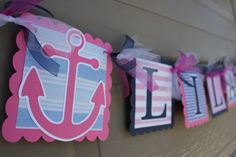 Nautical Themed Party  Anchor  Nautical Name by WhimsicallyCreated, $20.00 (Noelle's Baby Shower)