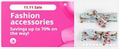 11 11 Sale, Special Promotion, Fashion Accessories