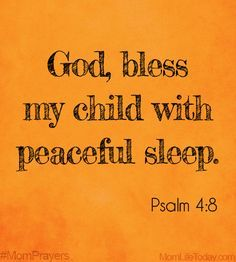 Bless my child oh lord...