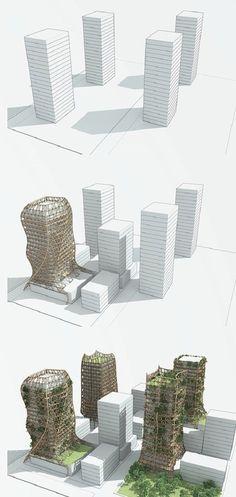 Bamboo Forest : Une structure de bambou pour envelopper les immeubles