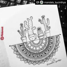 mandala sharing page (i.mandala) photos and videos Doodle Art Drawing, Zentangle Drawings, Zentangle Patterns, Art Drawings Sketches, Painting & Drawing, Drawing Ideas, Doodles Zentangles, Diy Painting, Easy Drawings