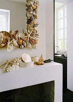 Beautiful shell mirror!