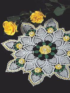Yellow Rose of Texas Crochet Pattern Leaflet