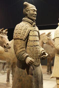 Soldier full-armor, Terracotta Army in Qin Shi Huang's mausoleum, Xi;an, China.