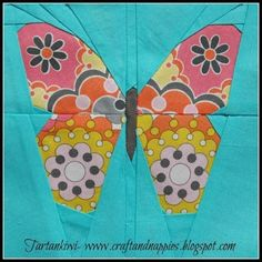 """Butterfly simple 5"""" Paper Pieced Pattern 