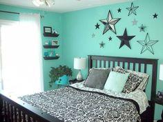 Girls Teal Bedroom Ideas Stars