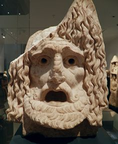 Tragic mask, 1st century BC to 1st century AD, Ashmolean Museum