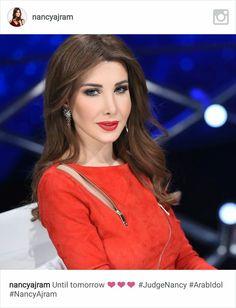 Until tomorrow ❤️❤️❤️ Arab Actress, Nancy Ajram, Famous Singers, Famous Women, Turkish Actors, Vogue, Celebs, Actresses, Hair Styles