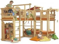 Adjustable children's furniture such as bunk beds, loft beds, adventure beds or cribs. All Bunk beds and loft beds are environmentally friendly and high quality production which is based on the usage of solid wood. Bunk Beds With Storage, Cool Bunk Beds, Kids Bunk Beds, Toy Storage, Loft Spaces, Kid Spaces, Casa Milano, Triple Bunk Beds, Modern Bunk Beds