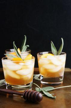 Winter Bourbon Cocktail Honey Sage   On Broads Journey