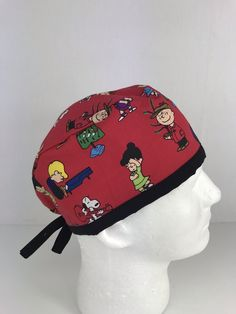 Charlie Browns Snoopy Christmas Skull Cap – Oksana's Creations Snoopy Christmas, Surgical Caps, Charlie Brown And Snoopy, Scrub Hats, Hand Sewing, Classic Style, Skull, Medium, Simple