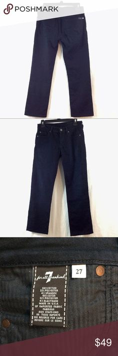 """7 For All Mankind black lightweight jeans Great condition. Thin and breathable. 4% spandex. 26.5"""" inseam, 14.5"""" waist. Like multiple items I have available? When you bundle 3 items from my closet in the same transaction, you get a discount and only pay shipping ONCE!! When you bundle 4+, you get that PLUS a FREE GIFT! *Free gift increases in value with each additional item bundled* 7 For All Mankind Jeans"""