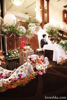 ディスプレイ / 高砂 / バルーン / テント / ウェディング / 結婚式 / wedding / オリジナルウェディング / プティラブーシュカ / トキメクウェディング / エテルナ高崎