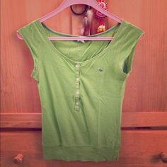 Green Abercrombie top! Green Abercrombie top! Tag a little loose as shown. Abercrombie & Fitch Tops