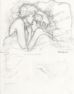 Black,and,white,boy,cartoon,couple,cuddle,draw,drawing,girl,love