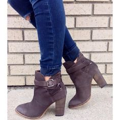 I own NO booties and I desperately need some in a fairly neutral color that  I could wear to work with lots of outfits. Caitlin Van Haren 9c57f11e5