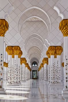 Sheikh Zayed Mosque in Abu Dhabi UAE