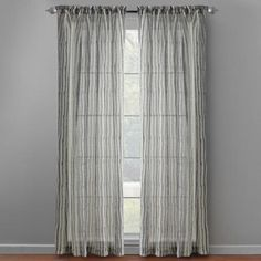 Gray Striped Window Panels, Set of 2 - Christmas Tree Shops and That! - Home Decor, Furniture & Gifts Store Christmas Tree Store, Grey And White, Gray, Window Panels, Sheer Curtains, Gift Store, Grey Stripes, Shops, Windows