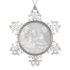 Photo snowflake ornament | Add Christmas picture