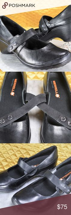 Merrell Black Mary Jane Loafers Women's Size 7.5 New without box Merrell snap black Mary Jane loafers. These were the floor display sample shoes. They are available in women's size 7.5. Check out our closet for other great shoes! *Our Posh Closet & eBay (Katshop_Goodies) is how we provide for our children! If you appreciate old school quality - you're in the right place. We don't just sell products, we put time & work into them. Feel free to check our reviews on eBay! We ship fast, usually…