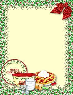 christmas recipes cards - Best Recipes Around The World Scrapbook Recipe Book, Scrapbook Paper, Scrapbooking, Christmas Border, Christmas Frames, Recipe Paper, Christmas Printables, Christmas Clipart, Christmas Recipes