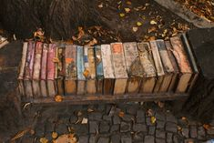 Bench made from books.