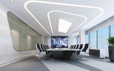 Qingmei Qingyun Office Design – About Designs Corporate Interior Design, Corporate Interiors, Office Interiors, Futuristic Interior, Office Space Design, White Office, White Rooms, Commercial Interiors, Ceiling Design