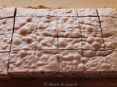 prajitura tavalita blat 20 Min, Butcher Block Cutting Board, Food And Drink, Bread, Desserts, Romania, Kitchens, Tailgate Desserts, Deserts