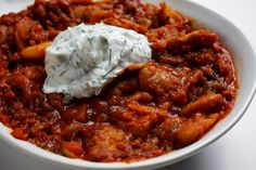 Slow-Cooker Greek Beans With Peppers and Yogurt