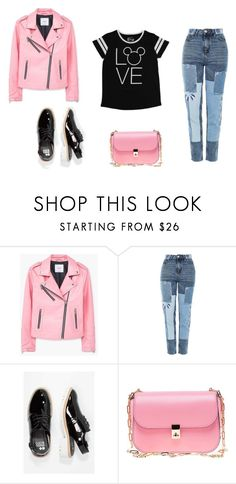 """""""look del dia : sunday"""" by aliciagorostiza ❤ liked on Polyvore featuring MANGO, Topshop, Valentino and Disney"""