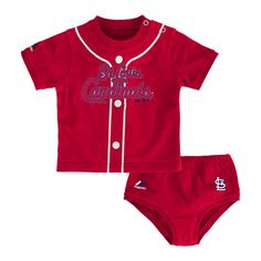 b54bafab0 St. Louis Cardinals Baby Tee and Diaper Cover Little Sport