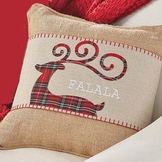 Mud Pie Deck the Halls Collection Pillow and Tartan Plaid Reindeer Pillow Wrap Tartan Christmas, Christmas Sewing, Christmas Pillow, Burlap Pillows, Throw Pillows, Accent Pillows, Colchas Quilting, Christmas Decorations, Christmas Ornaments