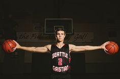 basketball senior picture strobist