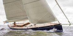 Hoek Designs Launch First Pilot Classic Sailing Yacht #yacht #sailing