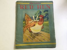 "Rare 1943 childrens book ""The Little Red Hen"" Samuel Lowe Co. Kenosha Wisconsin by Hannahandhersisters on Etsy"