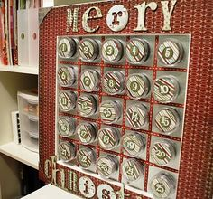 Christmas Magnet Board/AdventCalendar