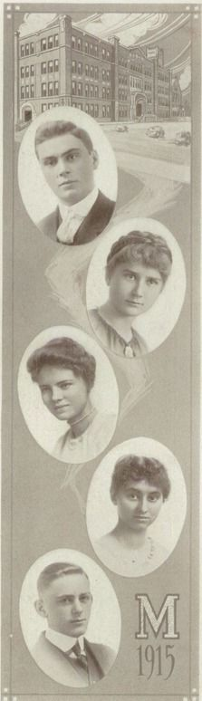 1949 hairdos in the yearbook of topeka high school in topeka