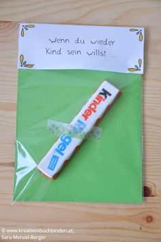 Wenn du wieder Kind sein willst ... Geschenk: Kinderriegel Die Wenn-Box ist ein tolles Geburtstagsgeschenk, du kannst sie aber auch basteln für eine Hochzeit, als Mitbringsel oder für Weihnachten. #kreativesschaffen #wennbox
