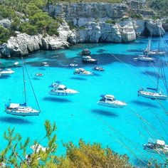 Cala Fornells in Mallorca, Spain  Check out @highlife.group !
