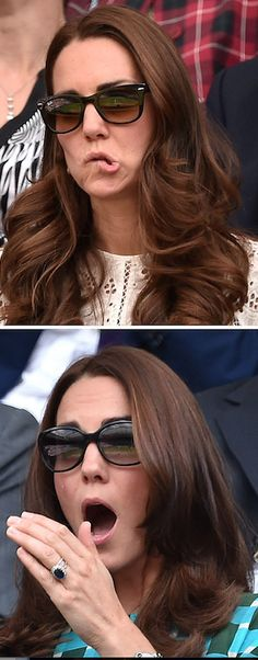 "Kate Middleton tends to show off her least ""princess-y"" expressions when she's doing one of her favorite things — watching sports. Some of her funniest moments would come while she is watching athletes do their thing! Keep reading to see Kate's funniest faces from over the years."