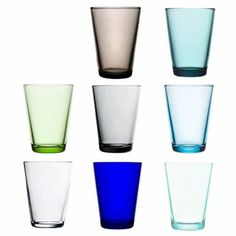 iittala Kartio Large Tumblers The iittala Kartio glassware, designed by Kaj Franck in is the perfect marriage of color and form. Perfect Marriage, Home Gadgets, Pint Glass, Green And Grey, Finland, Dinnerware, Cool Designs, Ceramics, Tableware