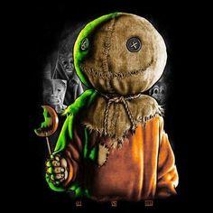 Trick r Treat T-Shirt Horror Tee Sam Hain Monster Arte Horror, Horror Art, Horror Icons, Halloween Horror, Halloween Art, Happy Halloween, Sam Trick R Treat, Something Scary, Slasher Movies