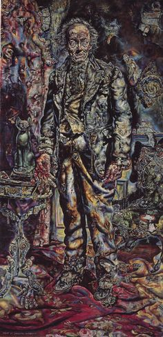 Ivan Albright, The Picture of Dorian Gray, 1943-44  From the Art Institute of Chicago.