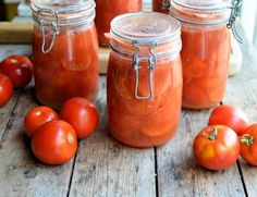 Bottled Garden Tomatoes My latest Garlic and Sapphire article!